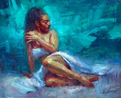 Jade by Henry Asencio - Original Painting on Board sized 32x26 inches. Available from Whitewall Galleries